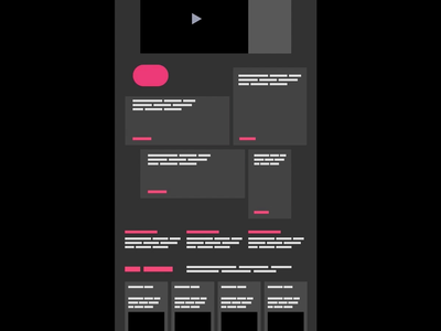 Motion elements in Figma user experience ux cards pink marketing page web design dark mode wireframe ux design ui design user interface ui video gif