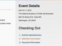Step 2 of Event Registration