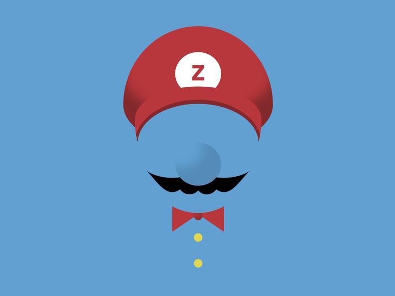 Super Zario super mario bros generated art css illustration super mario world video game super mario