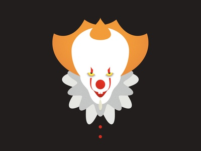 IT Pennywise Clown CSS Illustration