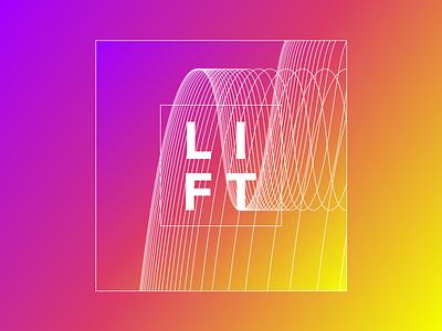 Lift lift lines gradient colors sketch