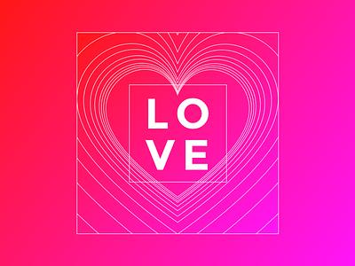 love valentine love sketch gradients lines