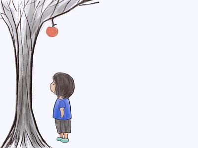 Boy And Apple ipad apple pencil procreate cute art animation