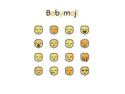 Babymoji expression face baby emoji