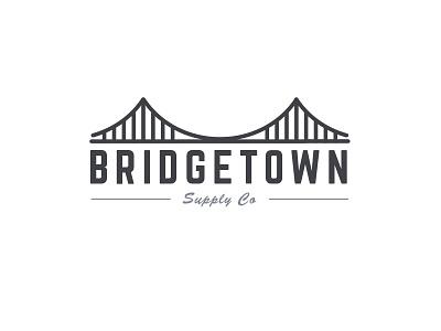 Bridgetown Supply Logo 3 minimal line logo forest inclosed bridge
