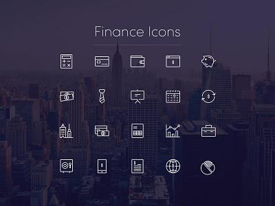 Finance Icons minimal line finance icon