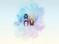 Wallpaper - Chinese opera faces