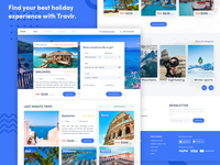 Travlr - travel agency landing page concept.