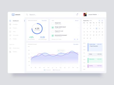 Student platform dashboard concept