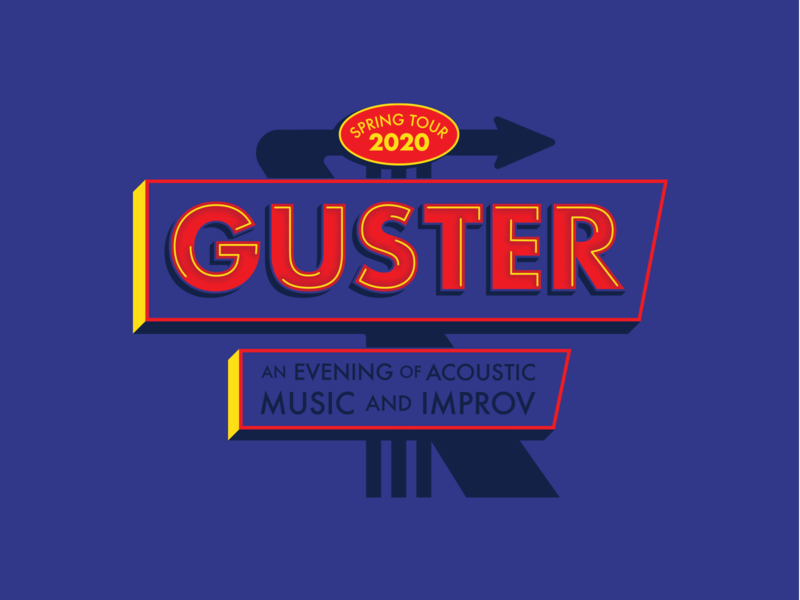 GUSTER 'neon sign' neon apparel design merchandise merch design graphicdesign illustration