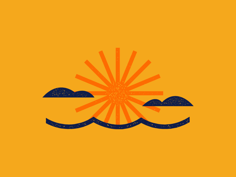 Sunset ocean beach vacation summer abstract minimalism graphicdesign illustration sunset