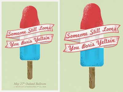 Someone Still Loves You Boris Yeltsin - Poster sslyby polyvinyl popsicle summer illustration gigposters