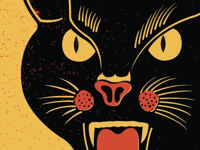 Black Cat gigposters retro firecrackers blackcat illustration