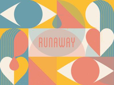 'Runaway' - single art abstractart geometric design digitalsingle music lgbtq bodyimage illustration