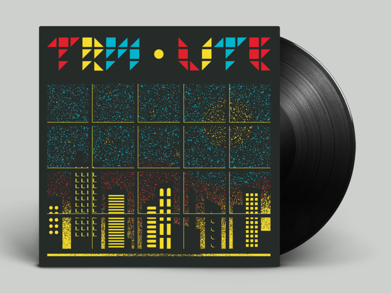 "TRM & LITE split 7"" packaging album cover art vinyl record packaging geometric graphicdesign illustration"