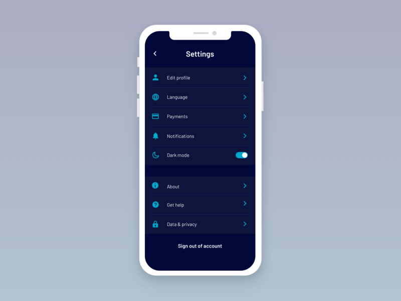 daily ui 007 - settings