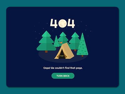 daily ui 008 - 404 page 404 camping ui dailyui dailyui008