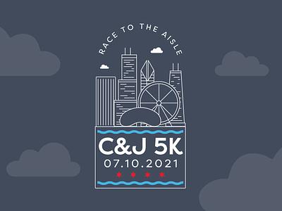 C&J 5K Chicago t-shirt design chicago runner vector shirtdesign