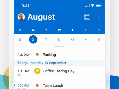 Single Line Calendar 📅 ux design interface apps web ui