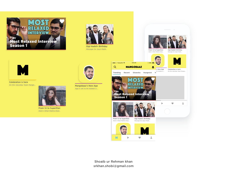 Mangobaaz App Concept dash board components buzzfeed social news landing page landing homepage hungerist mangobaaz