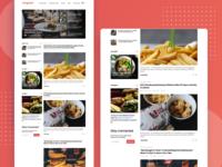 Hungerist Desktop Web Foodlog Page Concept