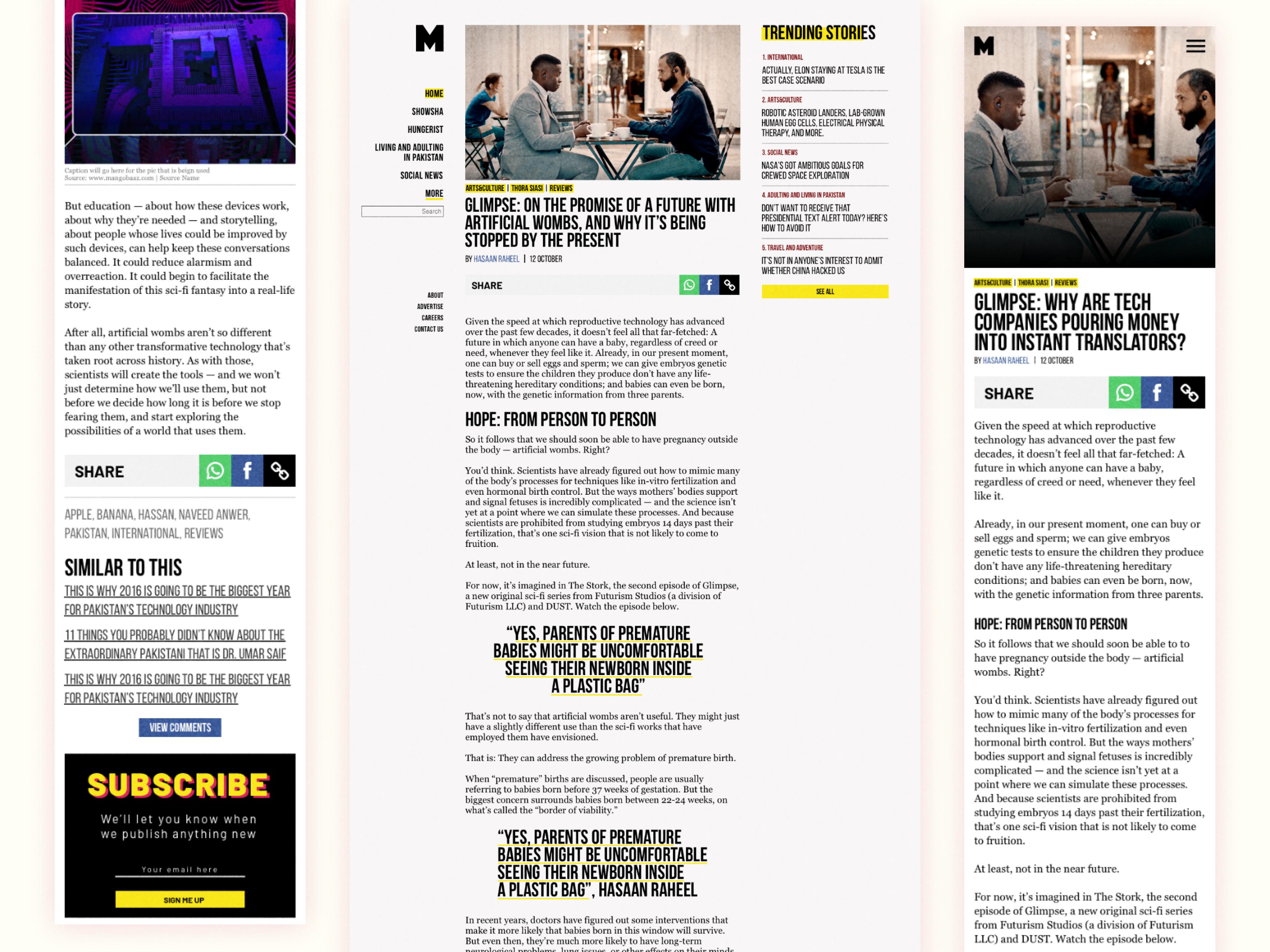 Article Mobile and Desktop View by Shoaib ur Rehman Khan | Dribbble