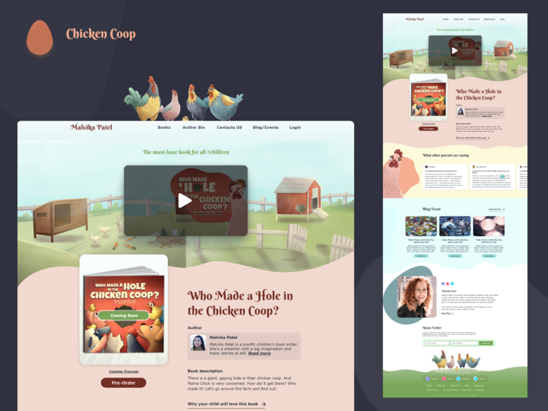 Books Landing Page books illustration design ux app ui