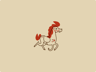 Horse sketch vector illustration