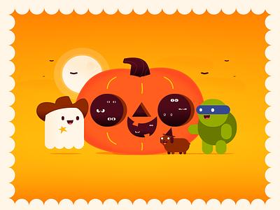 A Halloween Contest ghost dog illustration vector