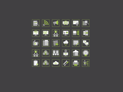 Set of 48px icons gp green health icons