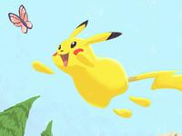 Pikachu Oil Pastel Brush Test
