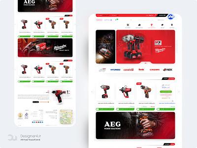 طراحی فروشگاه اینترنتی red design ui deisgn shop ui shop iran طراحی سایت user interface ui web design طراحی رابط کاربری