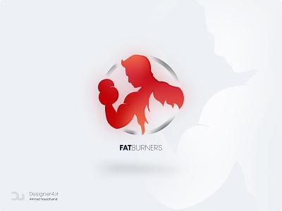 FatBurners Logo فیتنس طراح طراحی طراح گرافیک ایرانی طرااح لوگو طراحی لوگو لوگو red bodybuilding fitness center fitness club fitness logo fitness tehran logo design logodesign logotype iran branding logo