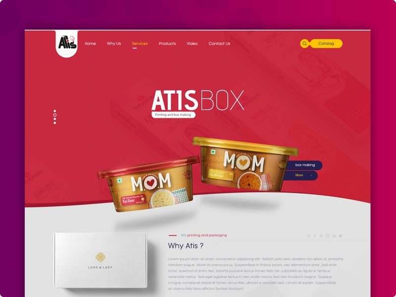 Ui/UX Design for Atisbox طراحی وب سایت طراحی واسط کاربری طراحی رابط کاربری طراحی سایت شرکتی remote remote designer remote work designer user experience user interface uiux design ui ui deisgn web design