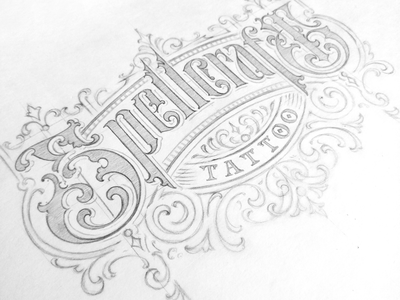 Spellcraft tattoo final drawing identity vintage custom lettering victorkevruh logo sketch logotype handlettering typography lettering