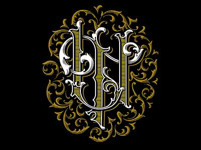 UT monogram print typography monogram logotype lettering handlettering