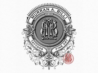 MB monogram vector vintage typography sketch monogram logotype logo lettering handlettering caligraphy