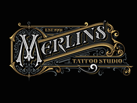 Vector for Merlins Tattoo studio
