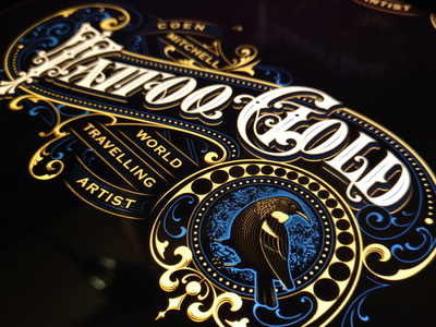 """Tattoo Gold"" vector work"