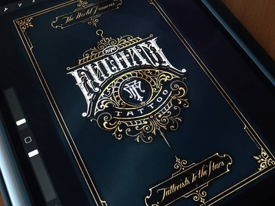 Fulham Tattoo victorkevruh typography logotype logo identity handlettering lettering custom calligraphy branding