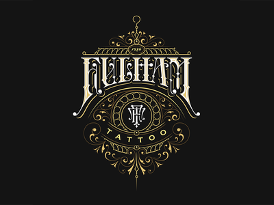 Fulham Tattoo victorkevruh typography logotype logo lettering identity handlettering custom calligraphy branding