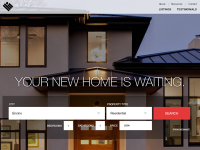 American Home Zoom Search ui navigation search bar real estate