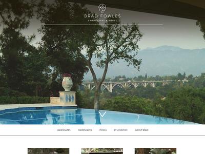 Brad Fowles Landscapes & Pools lanscapes pools portfolio gallery