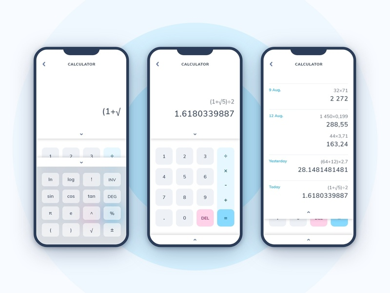 Daily UI - 04 | Calculator adobexd daily100challenge dailyuichallenge dailyui004 dailyui interface ui uiux uidesign app ui app design app calculator app calculator ui numbers maths calculator