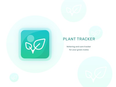 Daily UI - 05 | App Icon leaves watering plant uidesigner icon design app icon icon app uiux dailyui005 daily100 daily100challenge dailyuichallenge dailyui uidesign ui