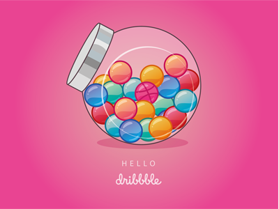 Hello Dribbble ! illustration illustrator vector candy hello dribbble first shot sweets
