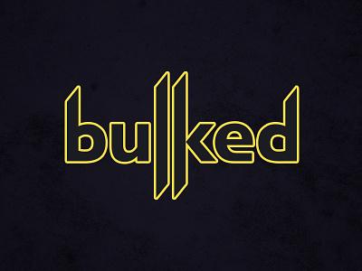 Bulked TV Logo french tekken fortnite typography vector branding illustrator gamer logo design logo twitch.tv twitch streamer