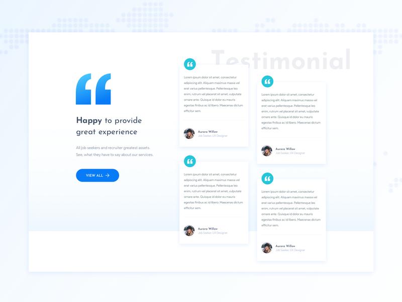 Testimonial Styling brand identity testimonial customer stories customers case study branding minimal design ux ui interface dribbble