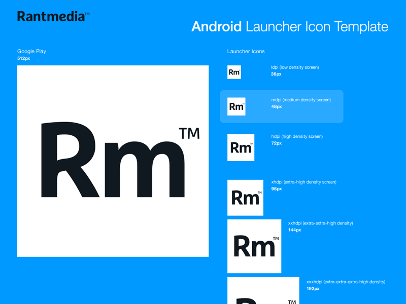 android launcher icons by rantmedia dribbble dribbble