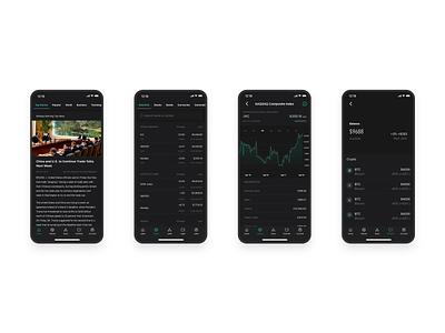 Finance Mobile: News & Exchange fintech ethereum bitcoin finance exchange ui ux app